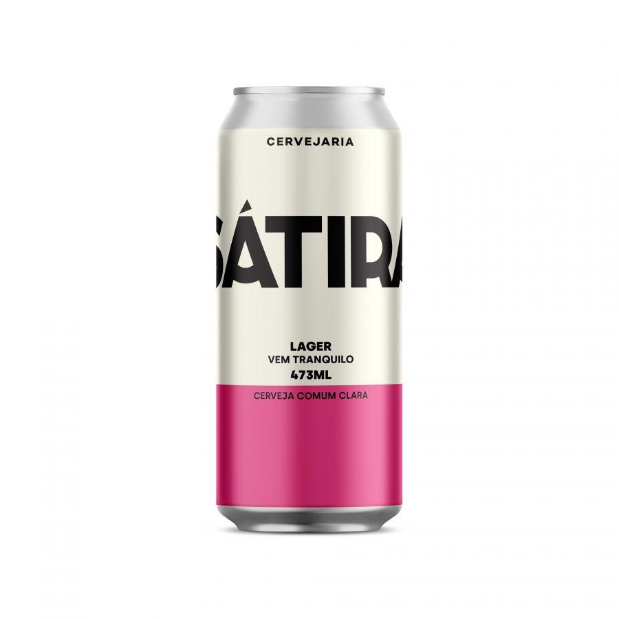 Cerveja Sátira Lager 473 ml