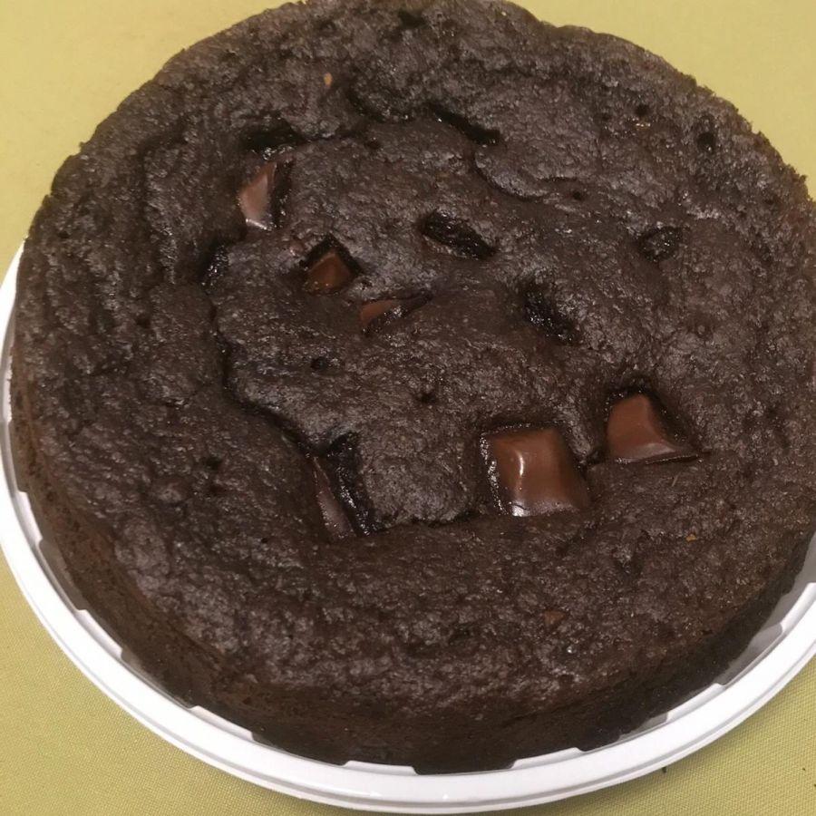 Bolo de banana com chocolate meio amargo s/ farinha branca Carlinha Queiroz