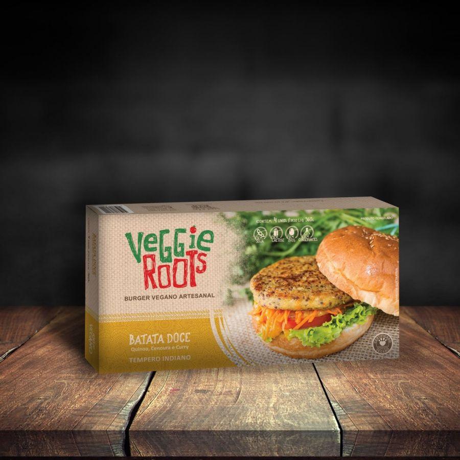 Burgers veganos – Sabor Indiano (360g) – Veggie Roots