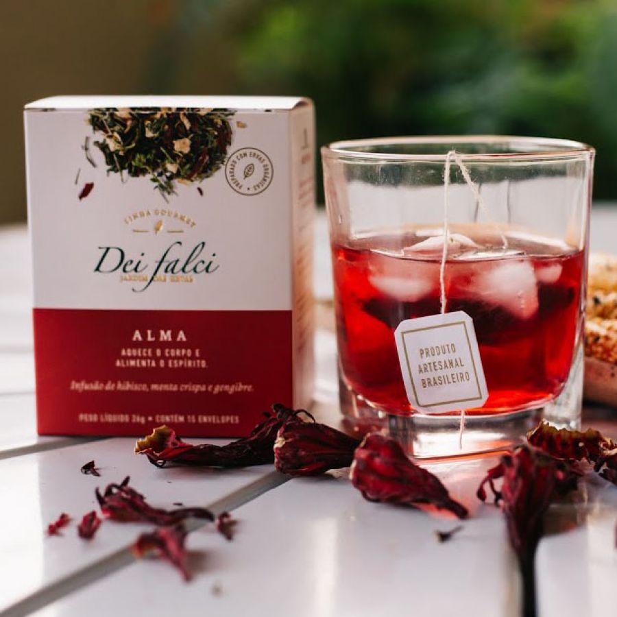 Chá Alma Dei Falci Orgânicos - 4un