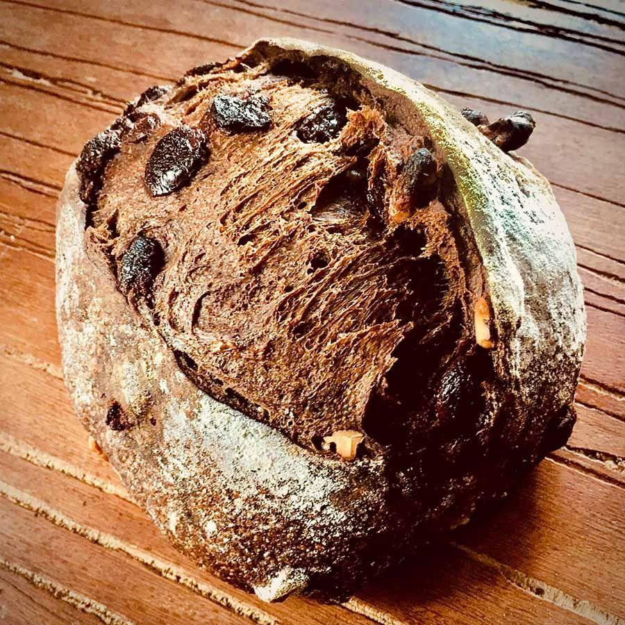 Pão de Cacau com Chocolate Manda Lá