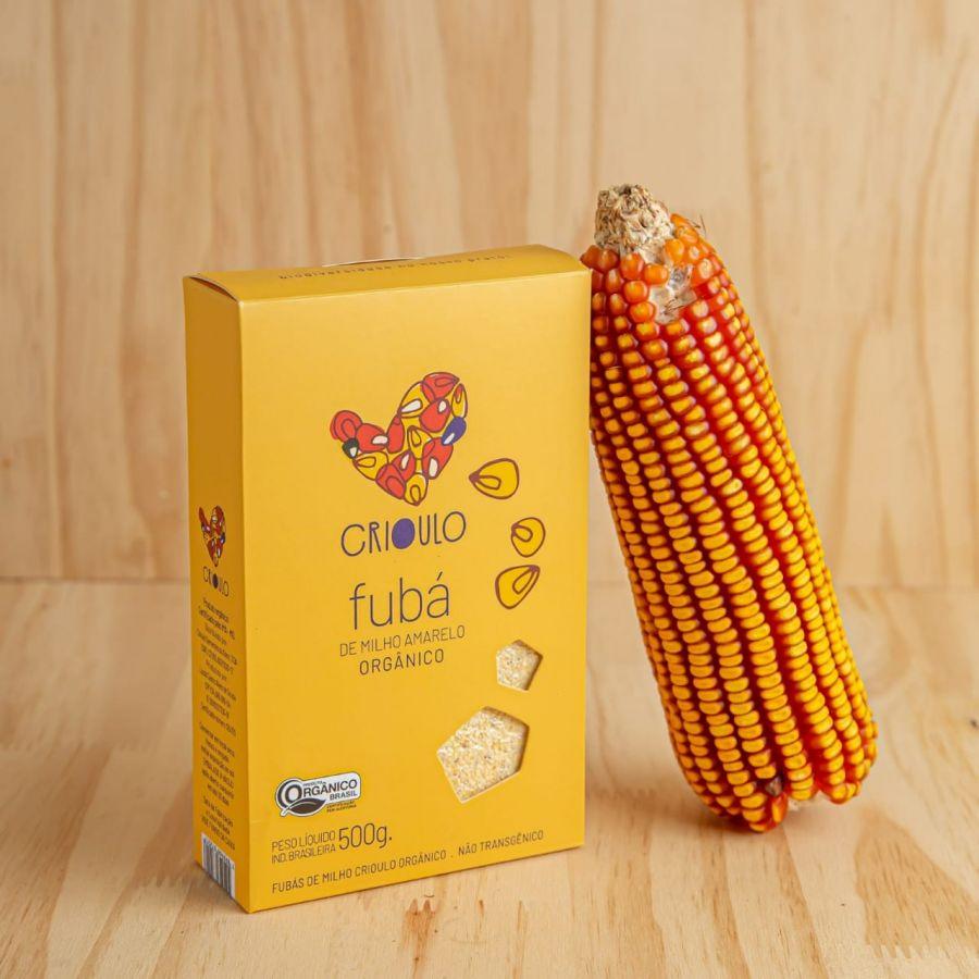 Fubá de milho Amarelo Projeto Crioulo – Vista Alegre –500gr