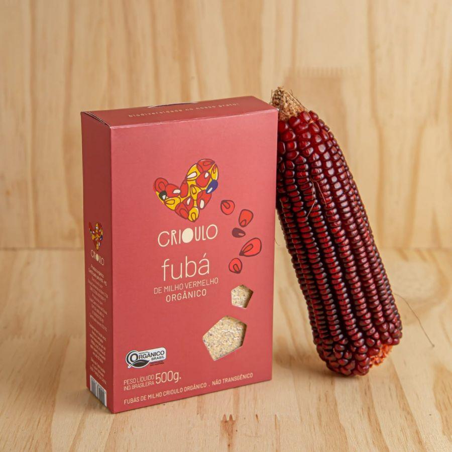 Fubá de milho Vermelho Projeto Crioulo – Vista Alegre – 500gr