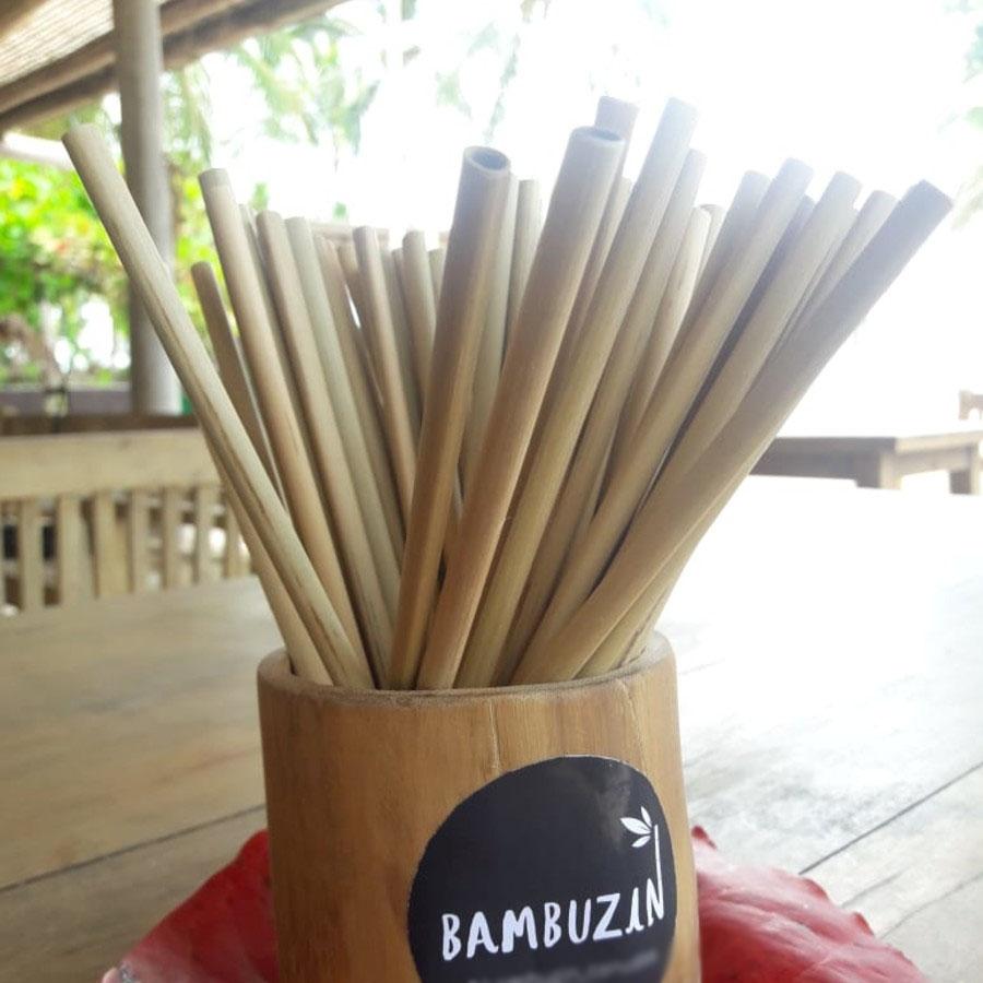 Canudos de bambu Bambuzin - 20un