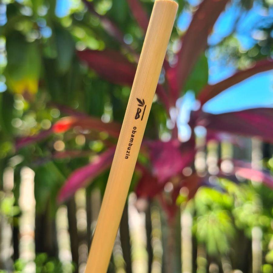 Canudos de bambu Bambuzin - 2un