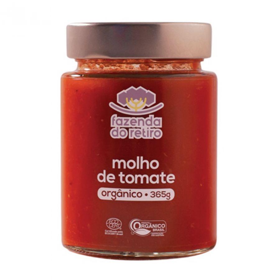 Molho de Tomate Orgânico Fazenda do Retiro - 365 gr