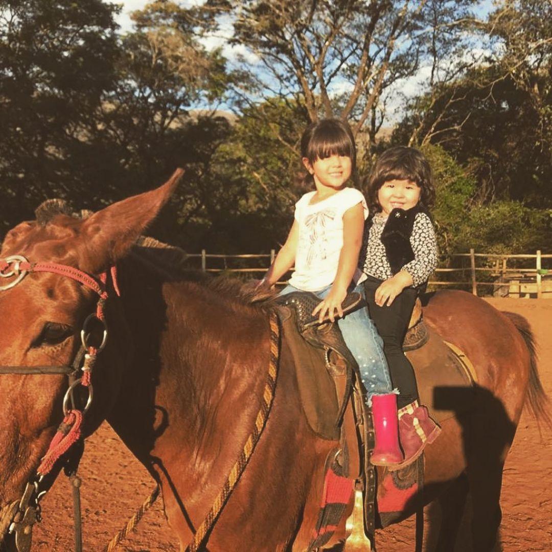 Passeio a Cavalo Infantil  Semana da Criança no Rancho Caminho das Tropas - 12 Outubro