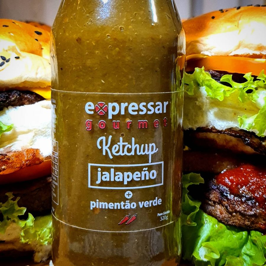 Ketchup de Pimenta Jalapeno com Pimentão Verde Expressar
