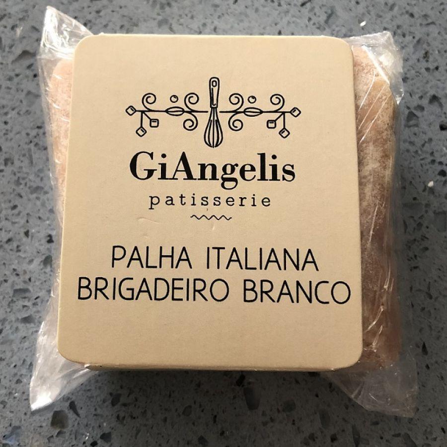 Palha Italiana Brigadeiro Branco GiAngelis Patisserie - 2 un