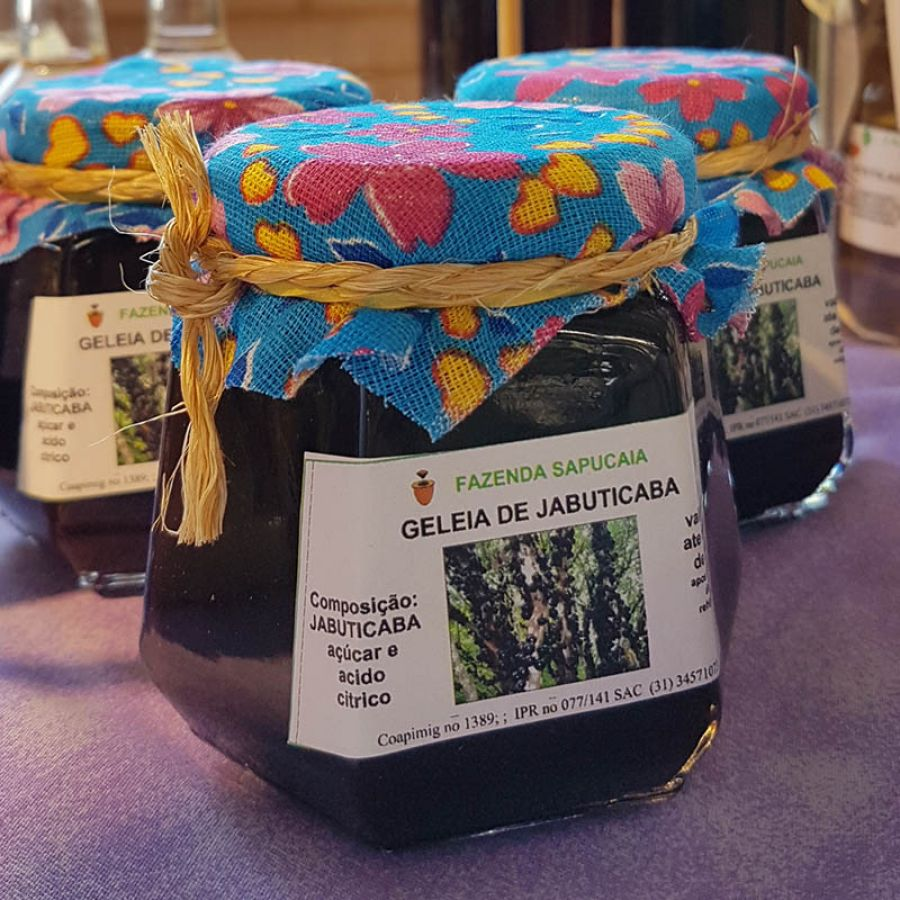 Geleia integral de Jabuticaba  Fazenda Sapucaia 250 gramas