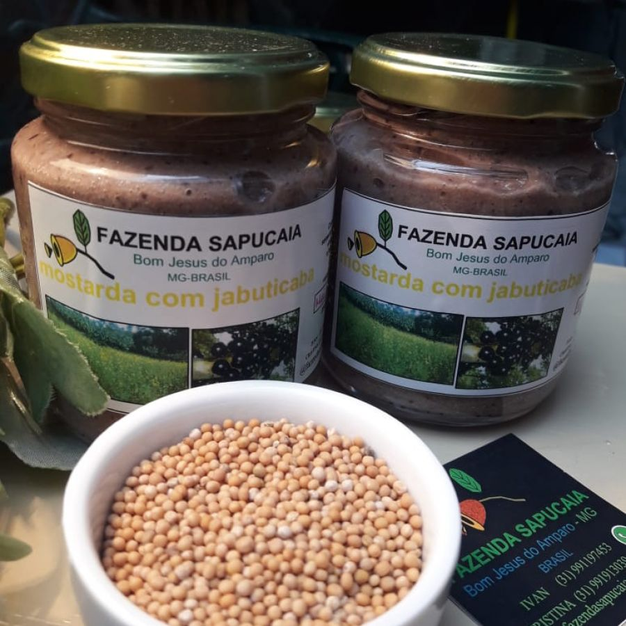 Mostarda com Jabuticaba Fazenda Sapucaia - 250gr