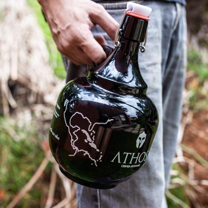 Athos - Growler de Vidro para Cerveja