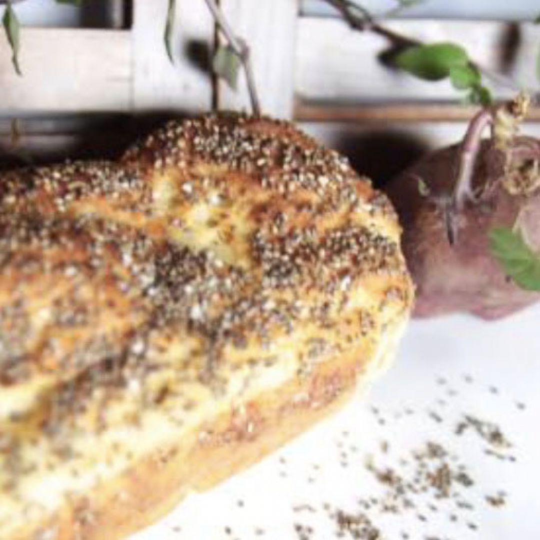 Pão de Batata Doce e Chia Tomilho Fresco