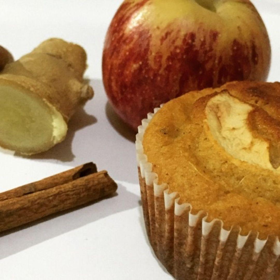 Bolo de maçã, gengibre e canela Tomilho Fresco